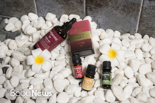 벤자롱 아로마 오일은 천연 1등급 퓨어(pure)오일만을 사용한다.ⓒ 베이비뉴스