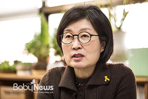 사교육걱정없는세상 윤지희 공동대표. 이기태 기자ⓒ 베이비뉴스