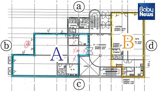 경로당 이전 및 어린이집 개설 설계도 가안. A 공간에 있는 경로당을비어 있는 B 공간으로 옮기고 A 공간에 국공립어린이집을 짓겠다는 계획이다.